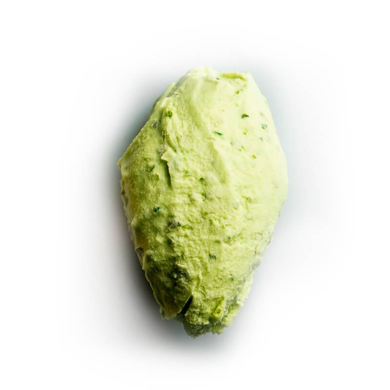 helado de albahaca