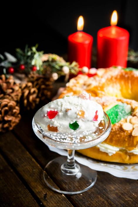 helado de roscon de reyes creado por Antonio Multari